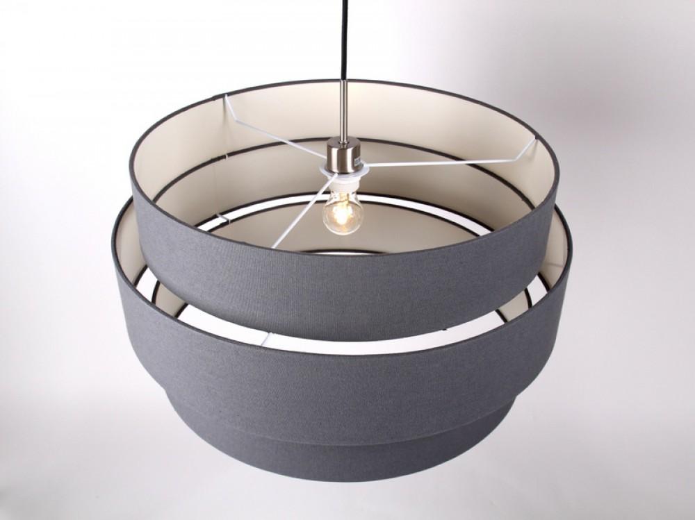 Pendelleuchte mit einem lampenschirm moderne h ngeleuchte anthrazit 60 cm - Moderne gartenaccessoires ...
