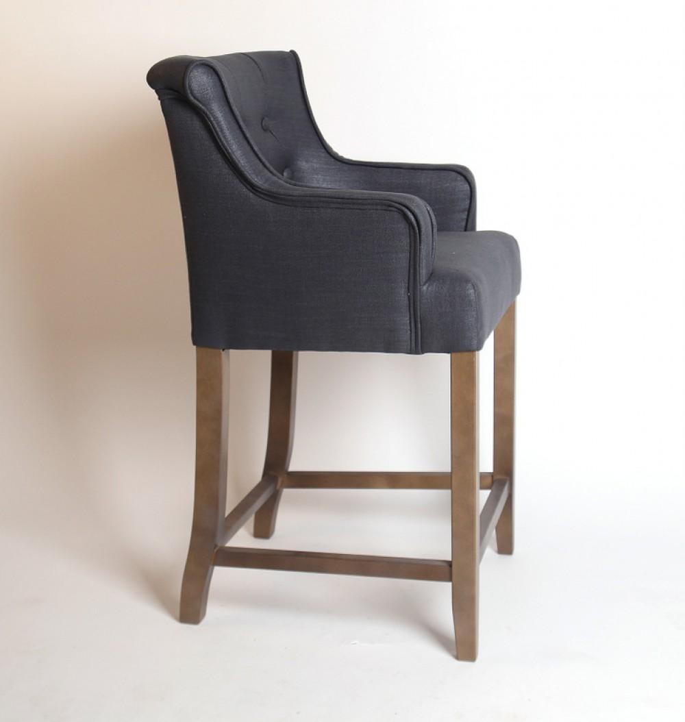 barhocker klassik in anthrazit im landhausstil 76 cm. Black Bedroom Furniture Sets. Home Design Ideas