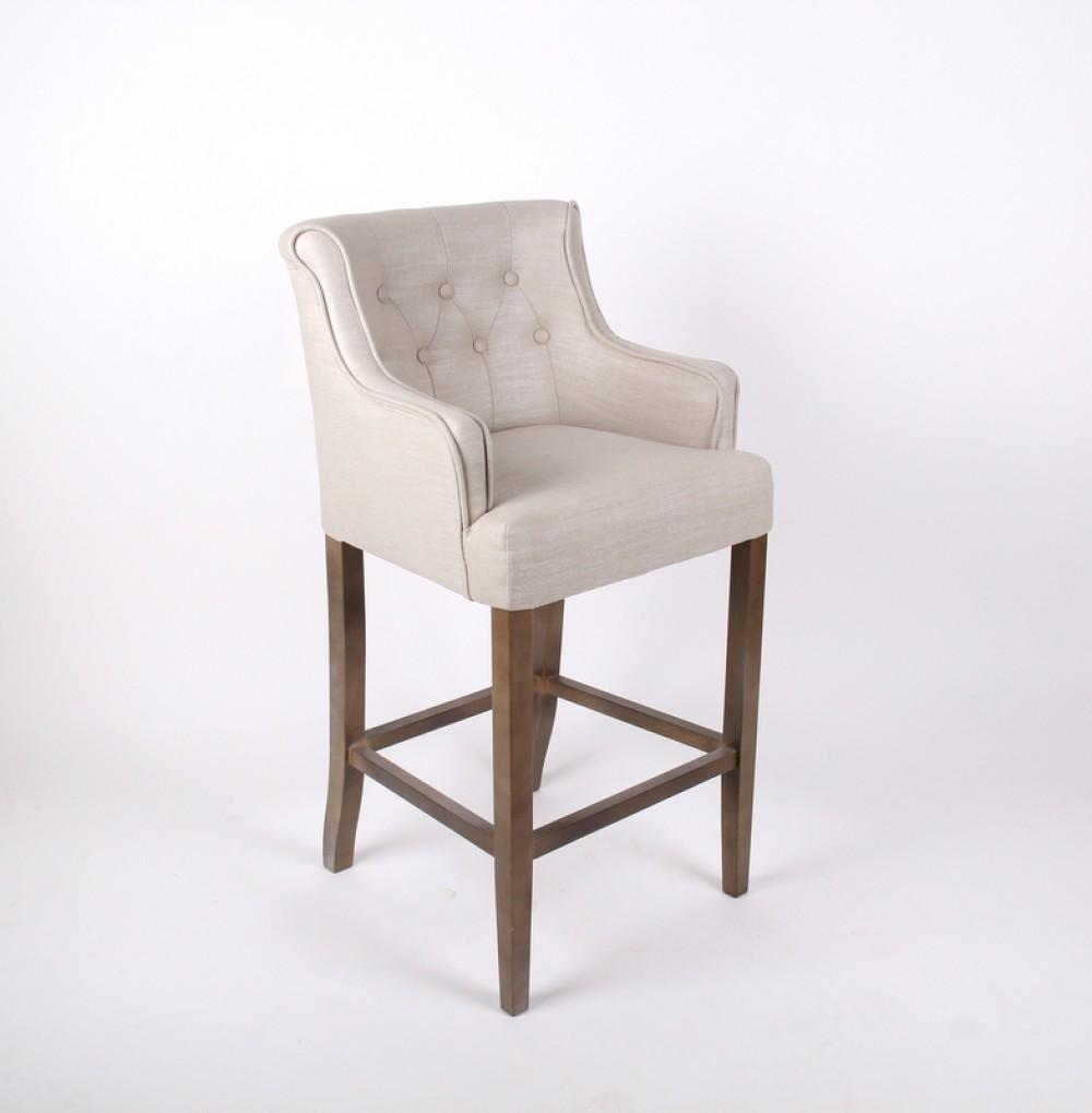 barhocker klassik in sand im landhausstil 76 cm sitzh he. Black Bedroom Furniture Sets. Home Design Ideas
