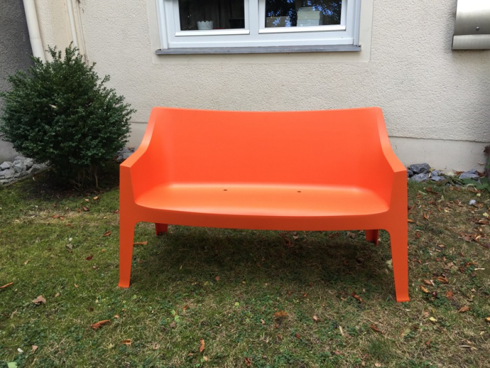 gartenbank orange kunststoff bank orange kunststoff. Black Bedroom Furniture Sets. Home Design Ideas