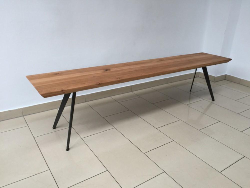 holzbank eiche amazing sitzbank mit rckenlehne twoseater. Black Bedroom Furniture Sets. Home Design Ideas