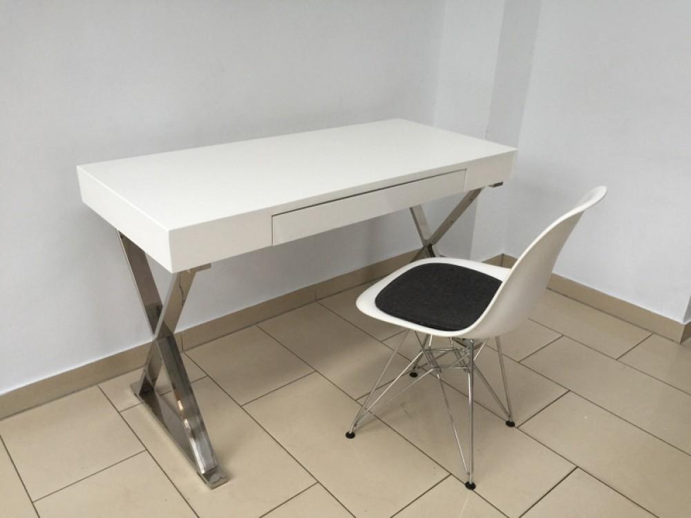Tisch wei hochglanz konsole wei wandtisch wei for Schreibtisch quadratisch