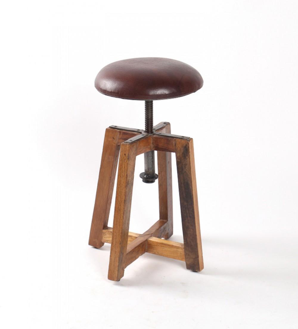 Hocker Holz HOhenverstellbar ~ Hocker gepolstert, höhenverstellbar im Industriedesign, Sitzhöhe 51