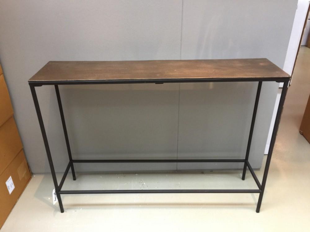 konsole bronze schwarz wandtisch metall schwarz breite. Black Bedroom Furniture Sets. Home Design Ideas