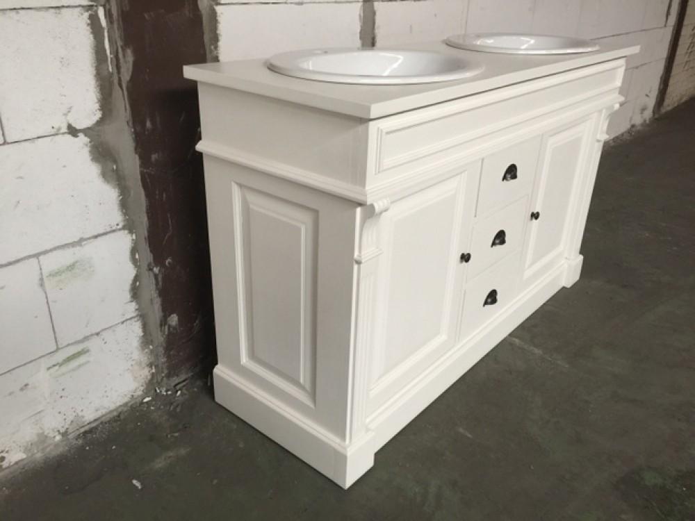 waschtisch wei massivholz waschtisch wei braun im landhausstil breite 150 cm waschtische. Black Bedroom Furniture Sets. Home Design Ideas