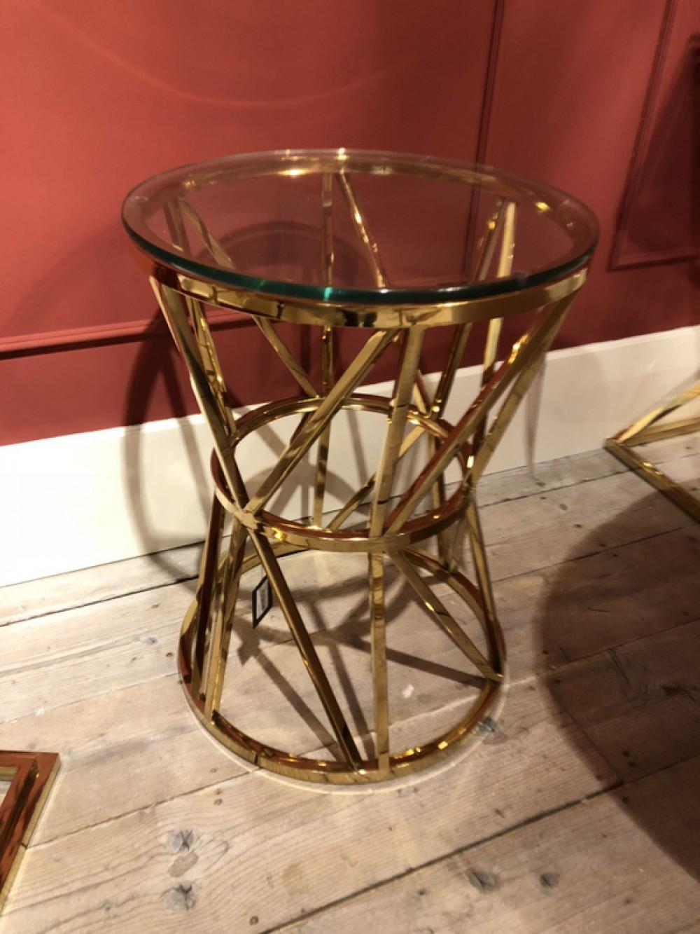 Beistelltisch Rund Gold Metall Tisch Rund Gold Durchmesser 50 Cm