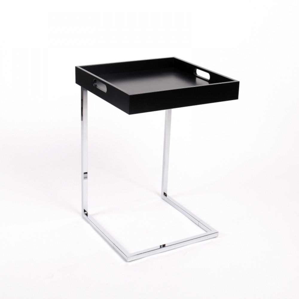 Tablett tisch schwarz beistelltisch modern farbe schwarz for Tisch schwarz