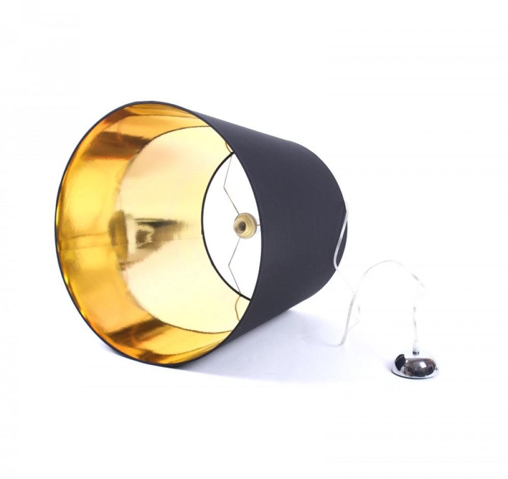 pendelleuchte schwarz gold lampenschirm durchmesser 55 cm. Black Bedroom Furniture Sets. Home Design Ideas