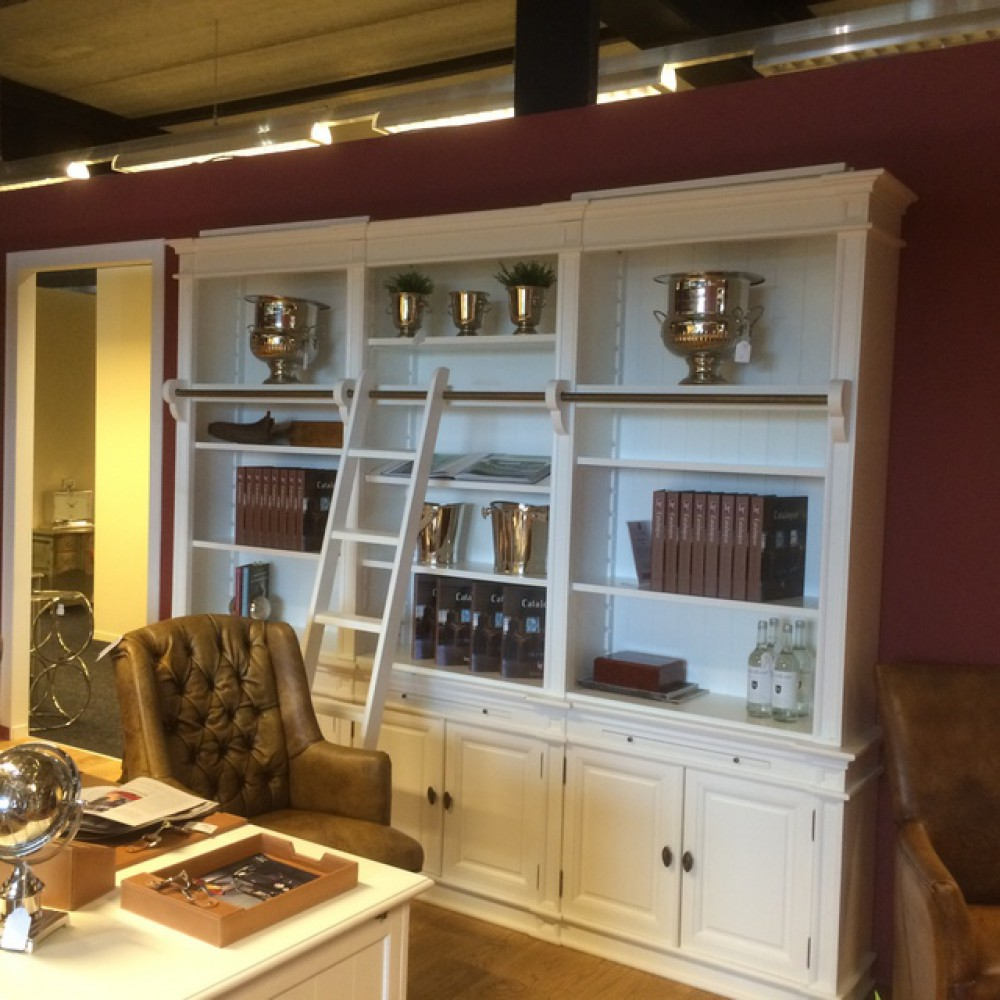 Bücherschrank weiß, Schrank in drei Größen im Landhausstil