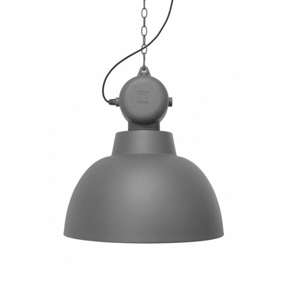 Genial Lampe Industriedesign Galerie Von Hängeleuchte Fabrikart, Pendelleuchte Grau-matt, Triedesign, Ø 40