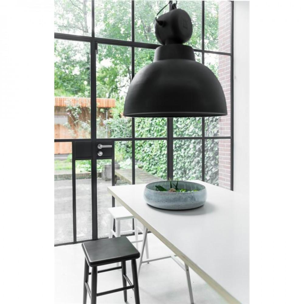 Verzauberkunst Lampe Industriedesign Foto Von Hängeleuchte Fabrikart, Pendelleuchte Grau-matt, Triedesign, Ø 40