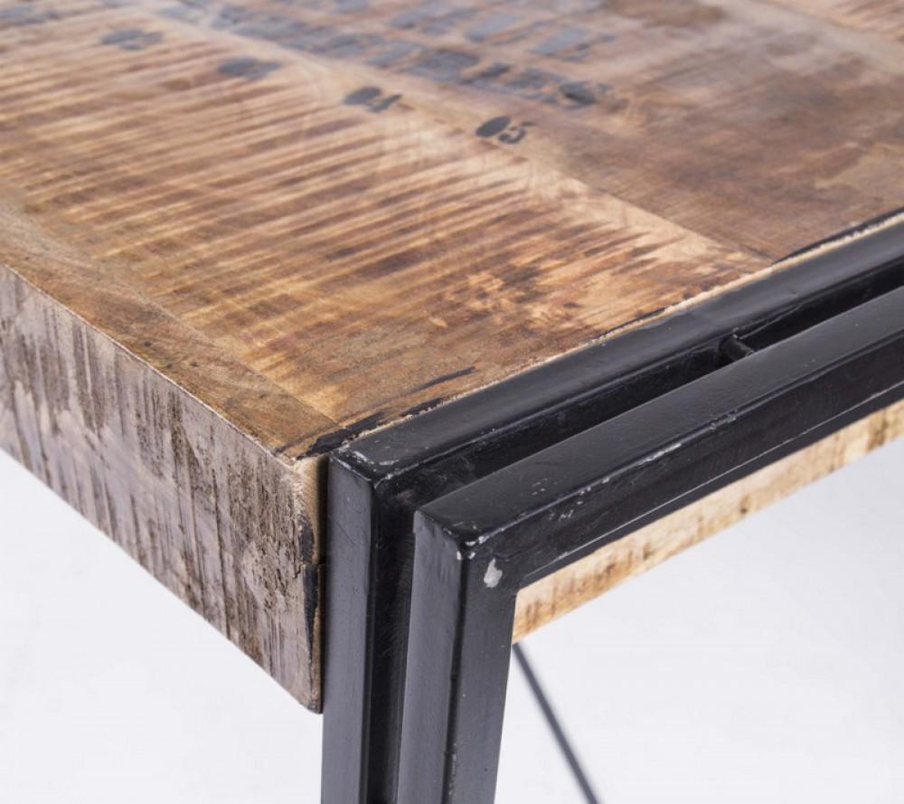 Esstisch Akazienholz ~ Esstisch Akazienholz, Massivholz im Industriedesign 140 cm