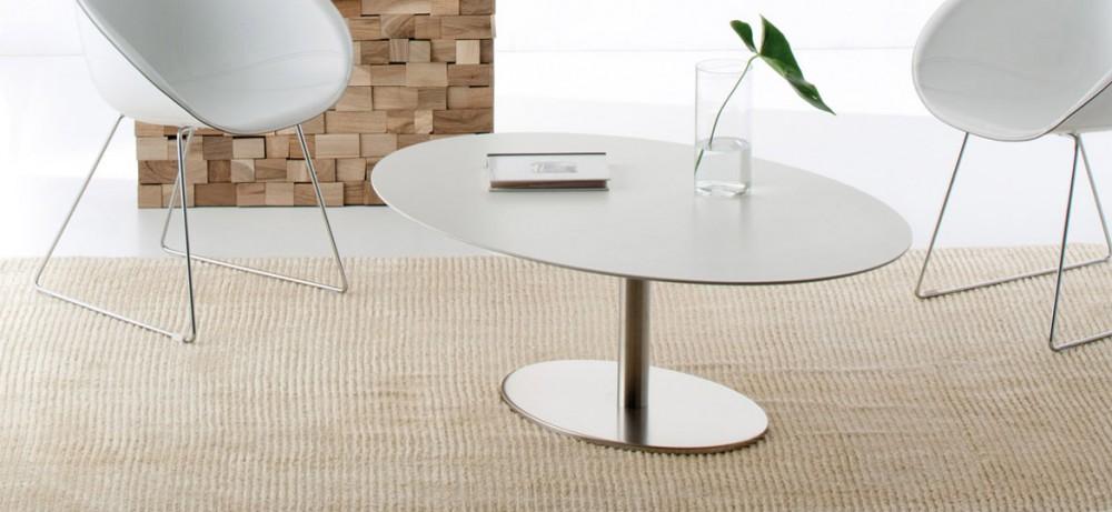 couchtisch oval wei ovaler tisch wei loungetisch oval wei l nge 120 cm tische. Black Bedroom Furniture Sets. Home Design Ideas