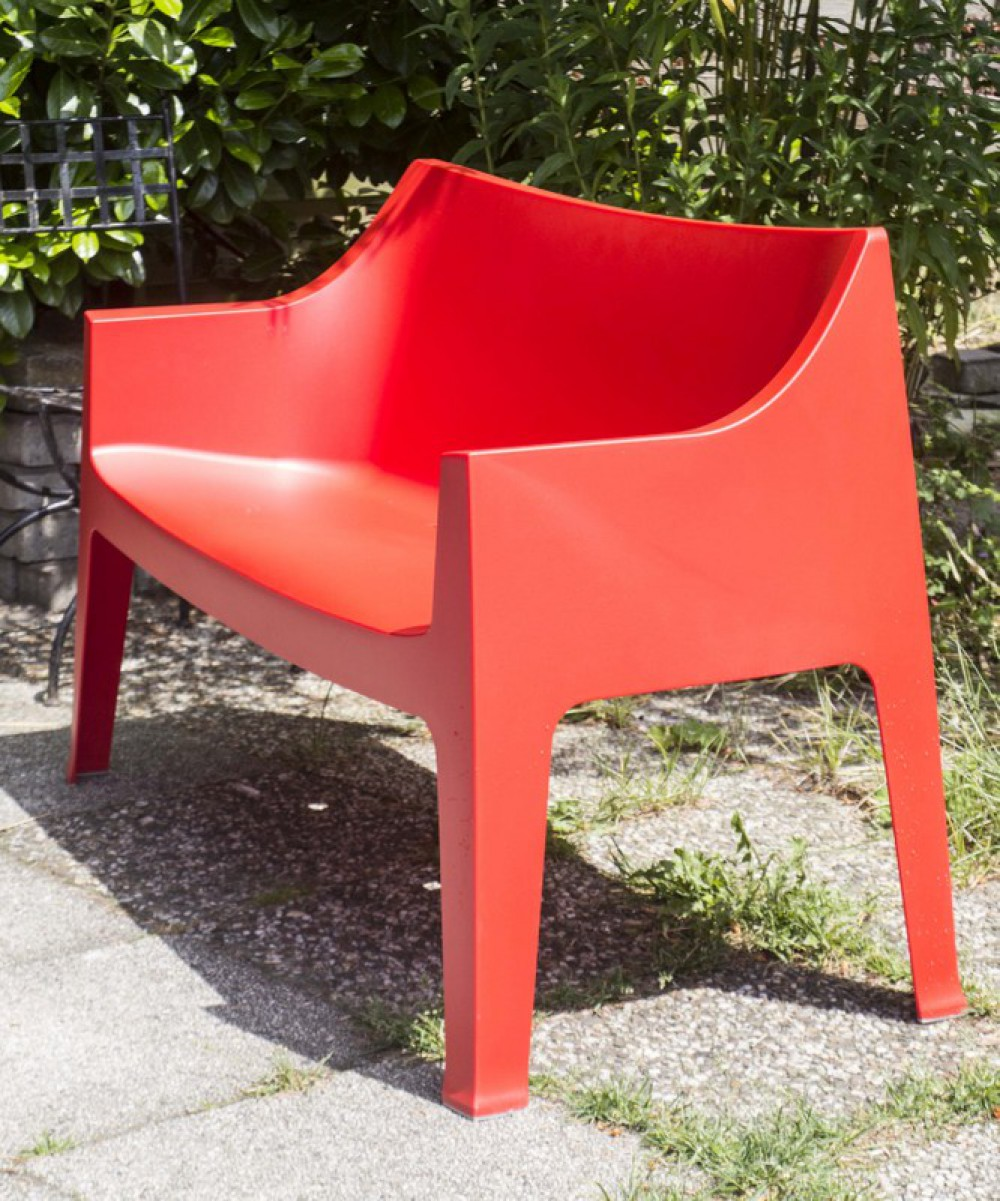 gartenbank rot sofa kunststoff outdoor bank rot. Black Bedroom Furniture Sets. Home Design Ideas