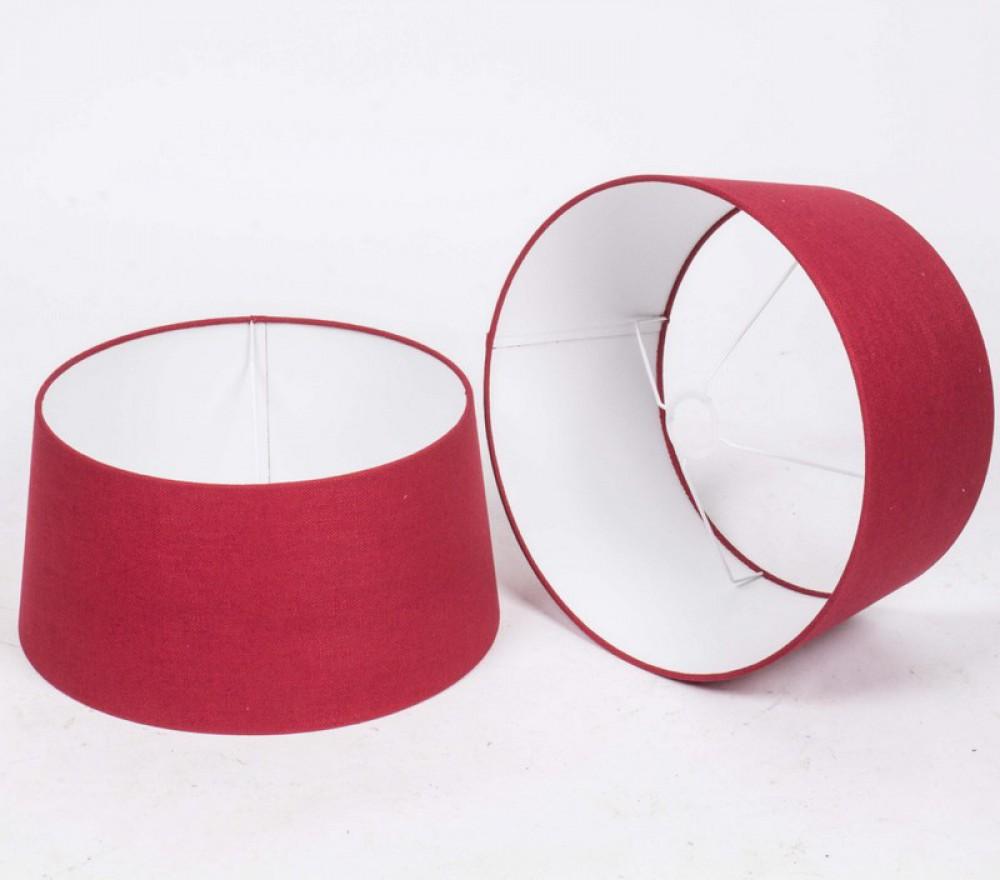 lampenschirm rot rund f r tischleuchte oder stehleuchte durchmesser 40 cm. Black Bedroom Furniture Sets. Home Design Ideas