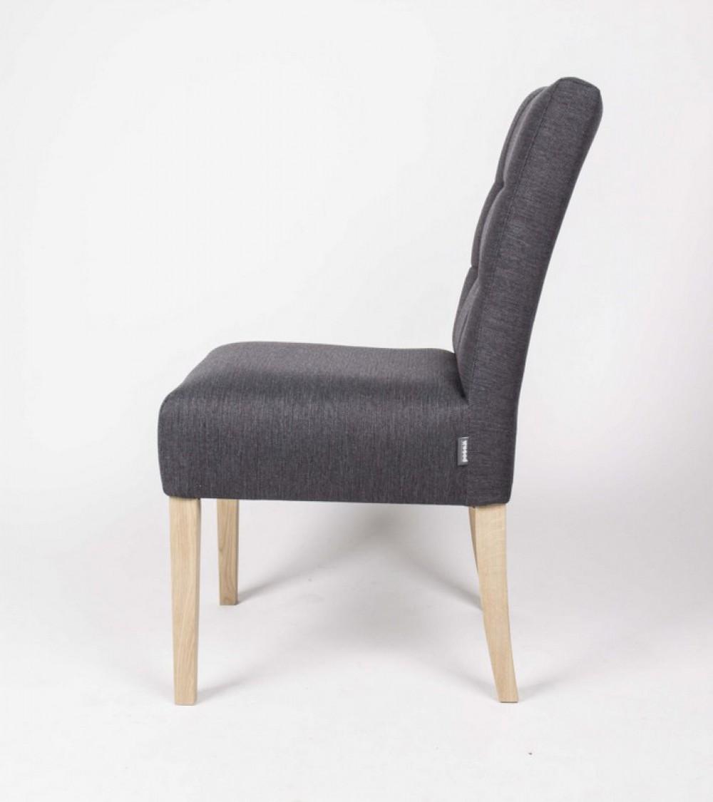 klassischer stuhl gepolstert farbe grau. Black Bedroom Furniture Sets. Home Design Ideas