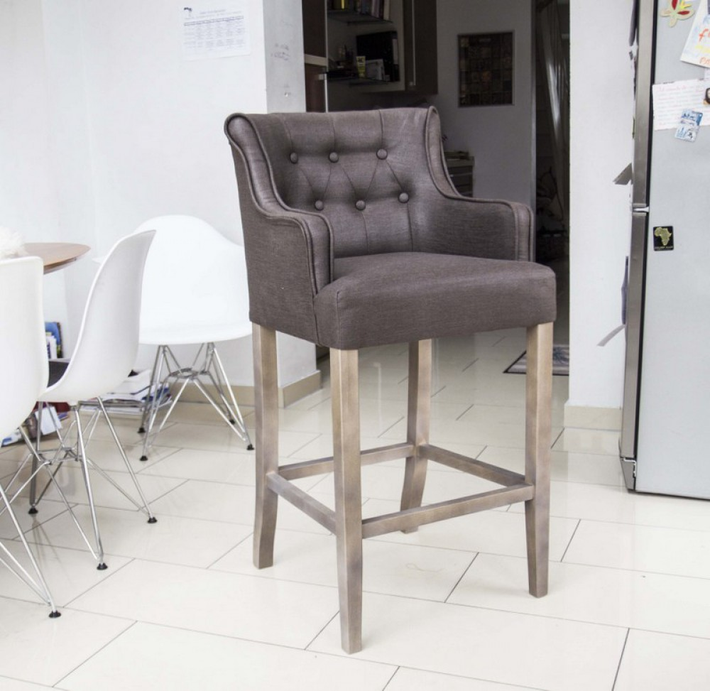 barstuhl braun barhocker braun im landhausstil sitzh he. Black Bedroom Furniture Sets. Home Design Ideas