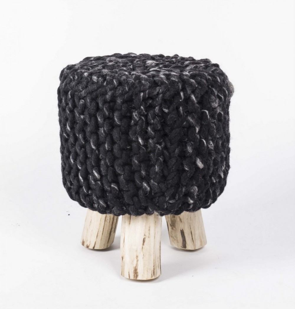 hocker gepolstert mit webstoff bezogen 33 cm. Black Bedroom Furniture Sets. Home Design Ideas