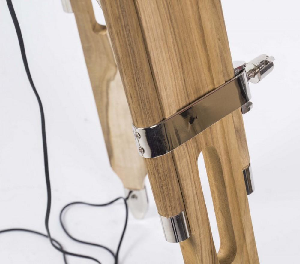 Ansprechend Dreibein Stehlampe Das Beste Von Stehleuchte Höhenverstellbar Im Stil, Mit Einem Lampenschirm,