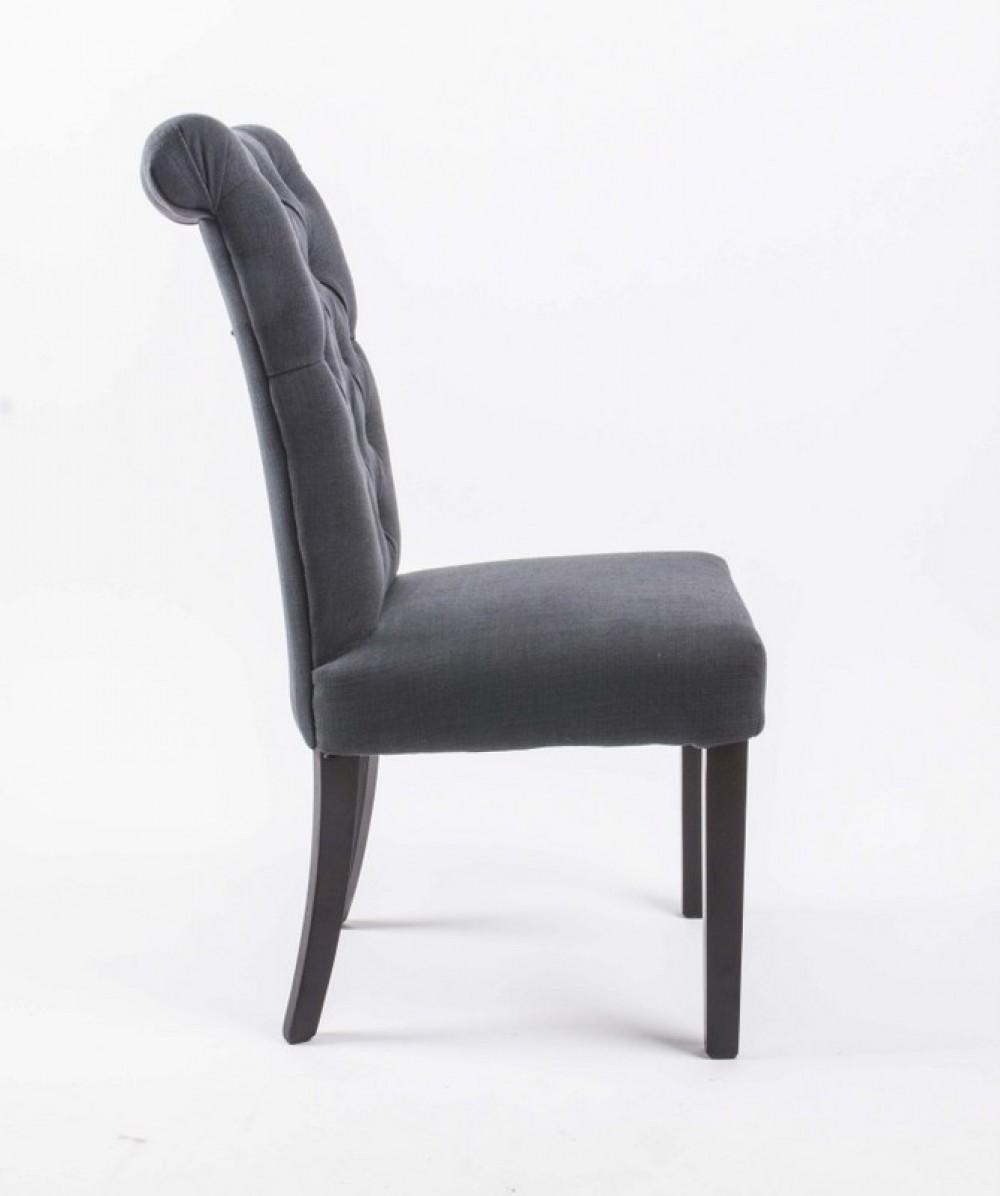 Stuhl gepolstert anthrazit stuhl chesterfield im landhausstil - Chesterfield stuhl ...