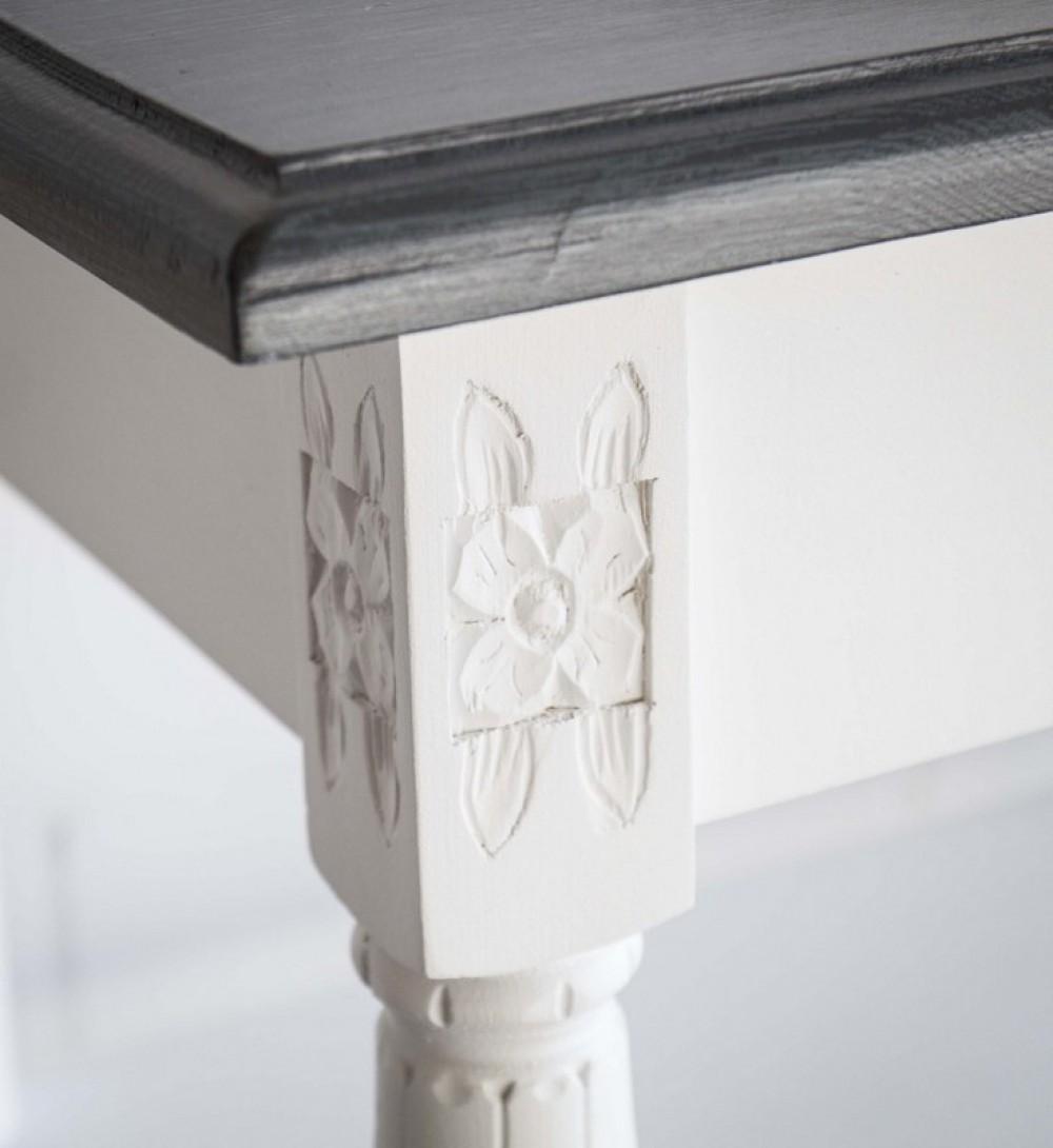 waschtisch wei grau im landhausstil badm bel wei. Black Bedroom Furniture Sets. Home Design Ideas