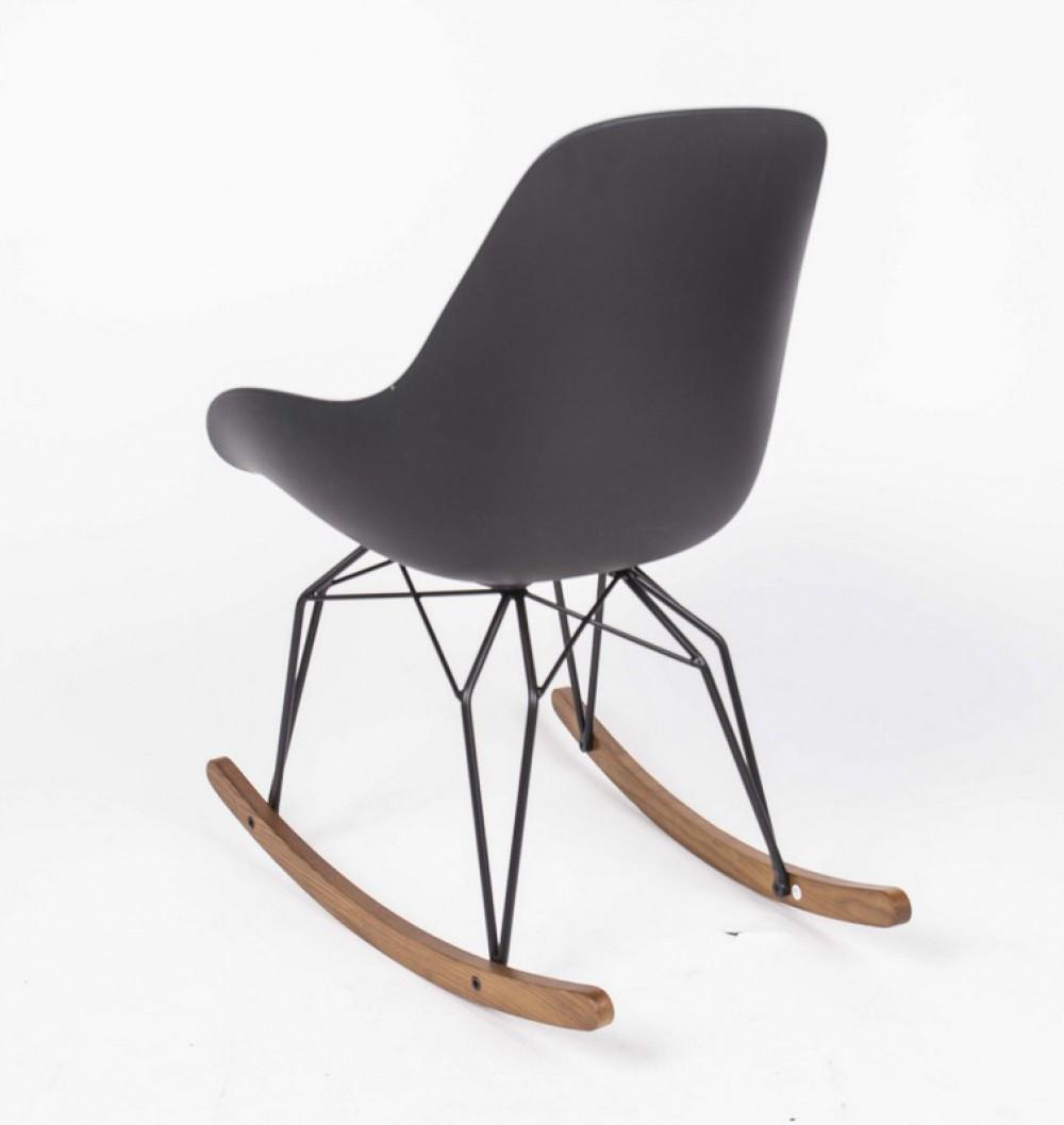 design schaukelstuhl schwarz sessel mit armlehne. Black Bedroom Furniture Sets. Home Design Ideas
