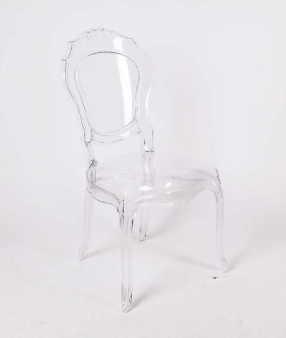stuhl barock aus polycarbonat transparent. Black Bedroom Furniture Sets. Home Design Ideas