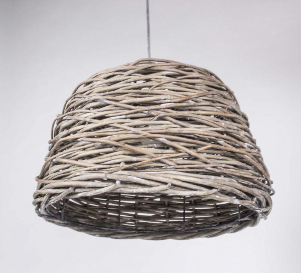 h ngeleuchte rattan pendelleuchte lampenschirm rattan 38 cm. Black Bedroom Furniture Sets. Home Design Ideas