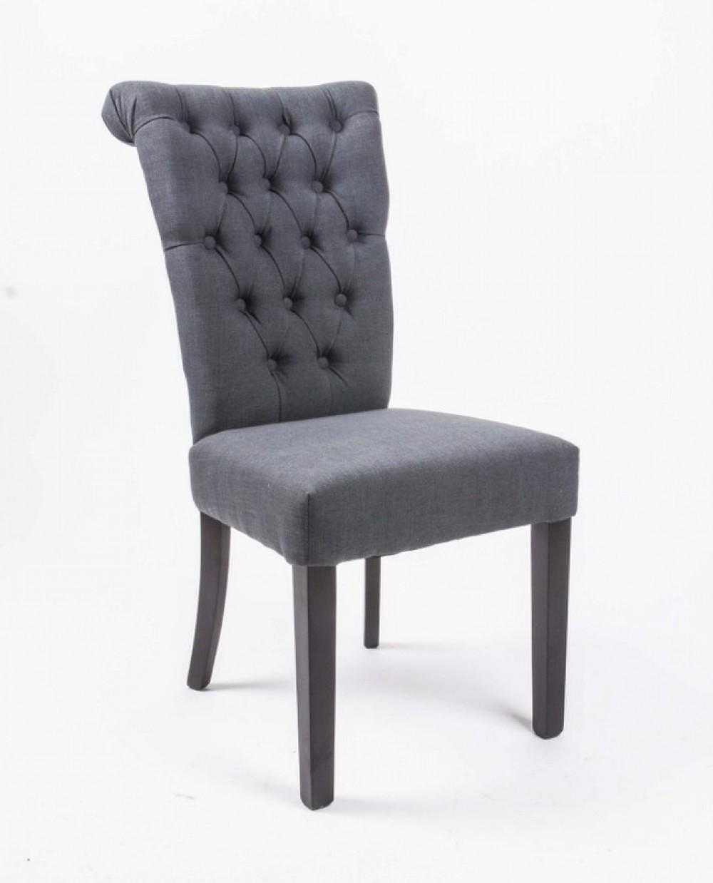 stuhl gepolstert anthrazit stuhl chesterfield im. Black Bedroom Furniture Sets. Home Design Ideas