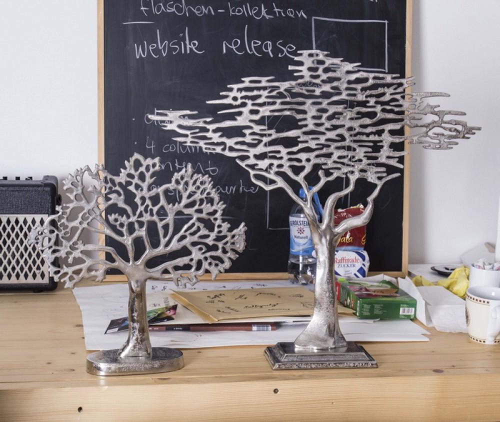 dekobaum, baum aus aluminium als dekoration, höhe 40 cm - Dekoration Baum