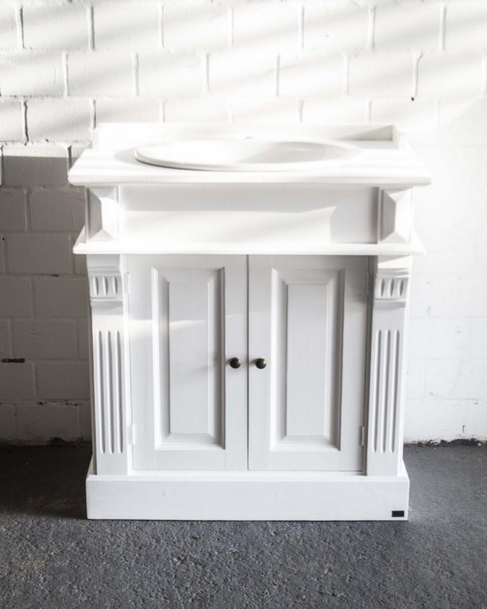 waschtisch wei im landhausstil badm bel klassisch. Black Bedroom Furniture Sets. Home Design Ideas