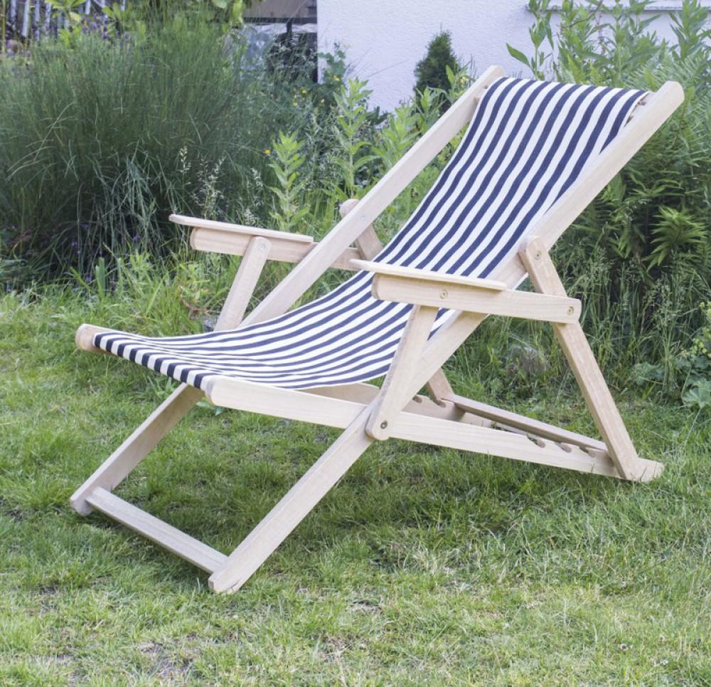 liegestuhl schwarz wei gestreift liegestuhl holz und 100 baumwolle strandstuhl gestreift. Black Bedroom Furniture Sets. Home Design Ideas