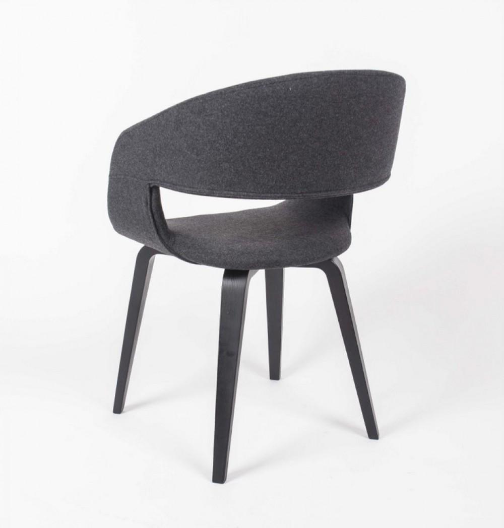 stuhl gepolstert mit einem gestell aus massivholz stuhl farbe grau. Black Bedroom Furniture Sets. Home Design Ideas