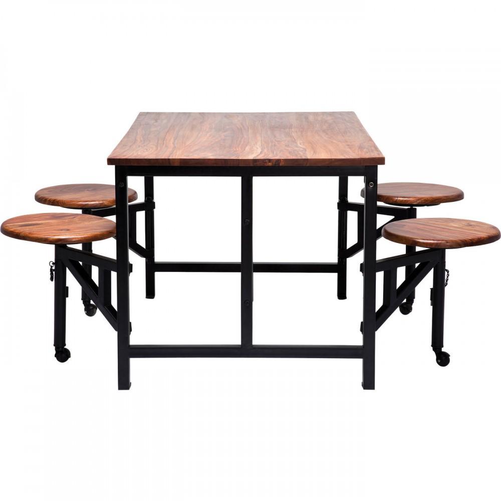 Esstisch Schwarzbraun esstisch schwarz braun tisch mit hocker schwarz maße 140 x 89 cm