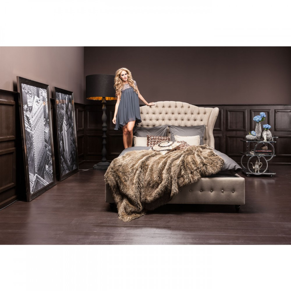 bett gepolstert barockstil bett farbe leinen landhaus ma e 200 x 160 cm. Black Bedroom Furniture Sets. Home Design Ideas