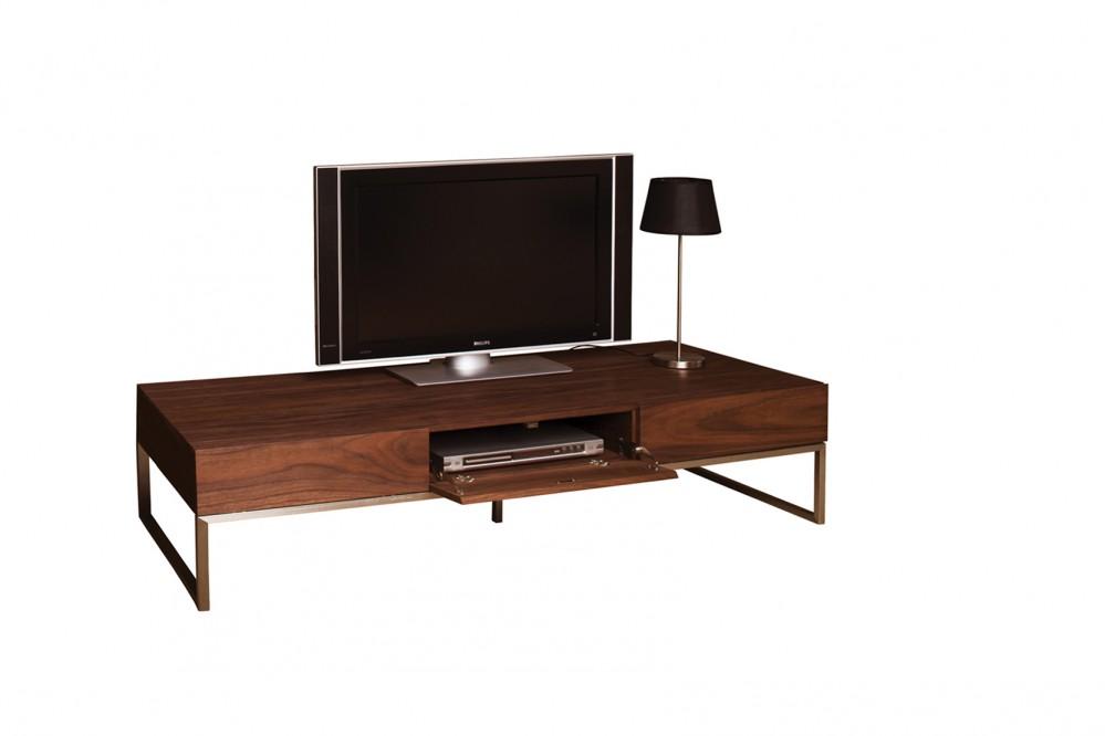 Lowboard Walnuss design tv schrank lowboard walnuss furniert mit drei türen