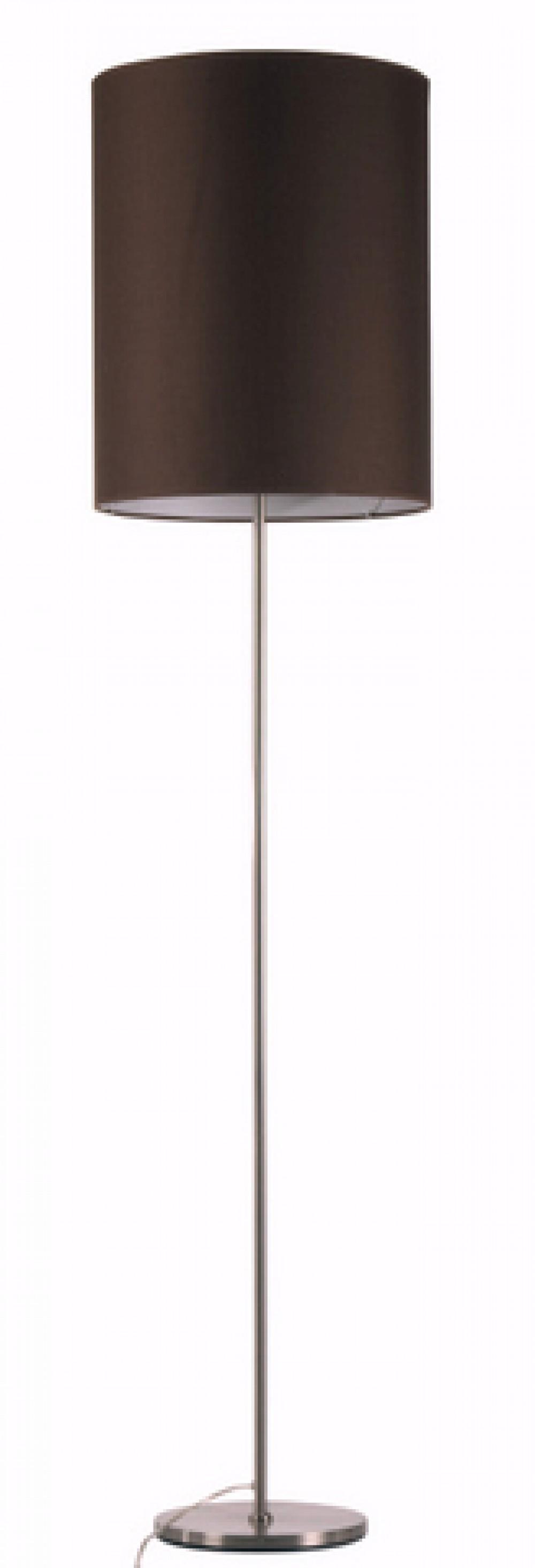 stehleuchte mit einem braunen zylinder lampenschirm 40 cm durchmesser h he 50 cm. Black Bedroom Furniture Sets. Home Design Ideas