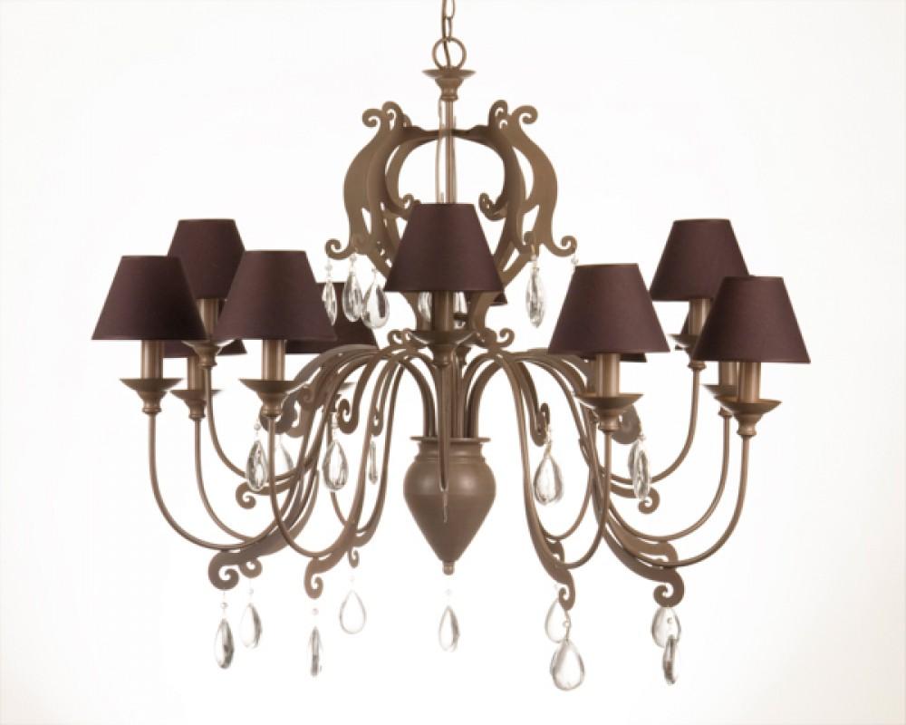 Lampenschirme Klein Kronleuchter ~ Kronleuchter armig im landhausstil hell taupe lampenschirme