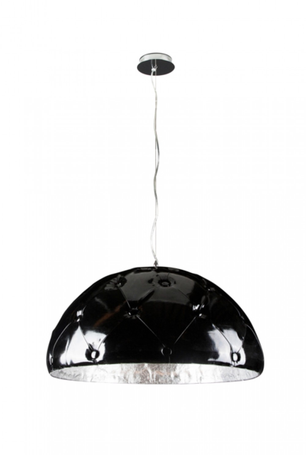 h ngeleuchte schwarz silber pendelleuchte durchmesser 70 cm. Black Bedroom Furniture Sets. Home Design Ideas