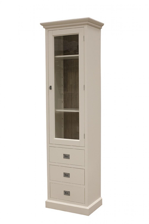 vitrine wei vitrinenschrank im landhausstil. Black Bedroom Furniture Sets. Home Design Ideas
