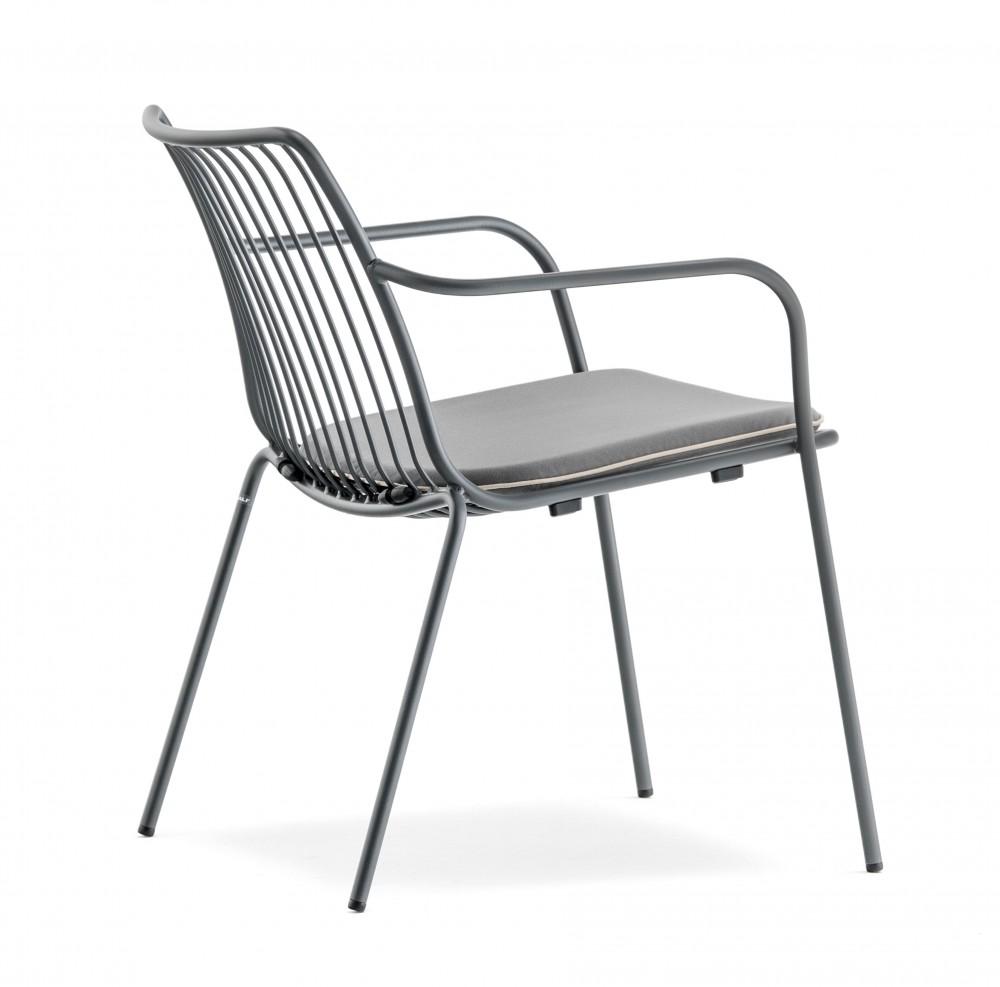 sessel gelb metall mit armlehne stapelbar garten sessel lounge aus metall sessel outdoor. Black Bedroom Furniture Sets. Home Design Ideas
