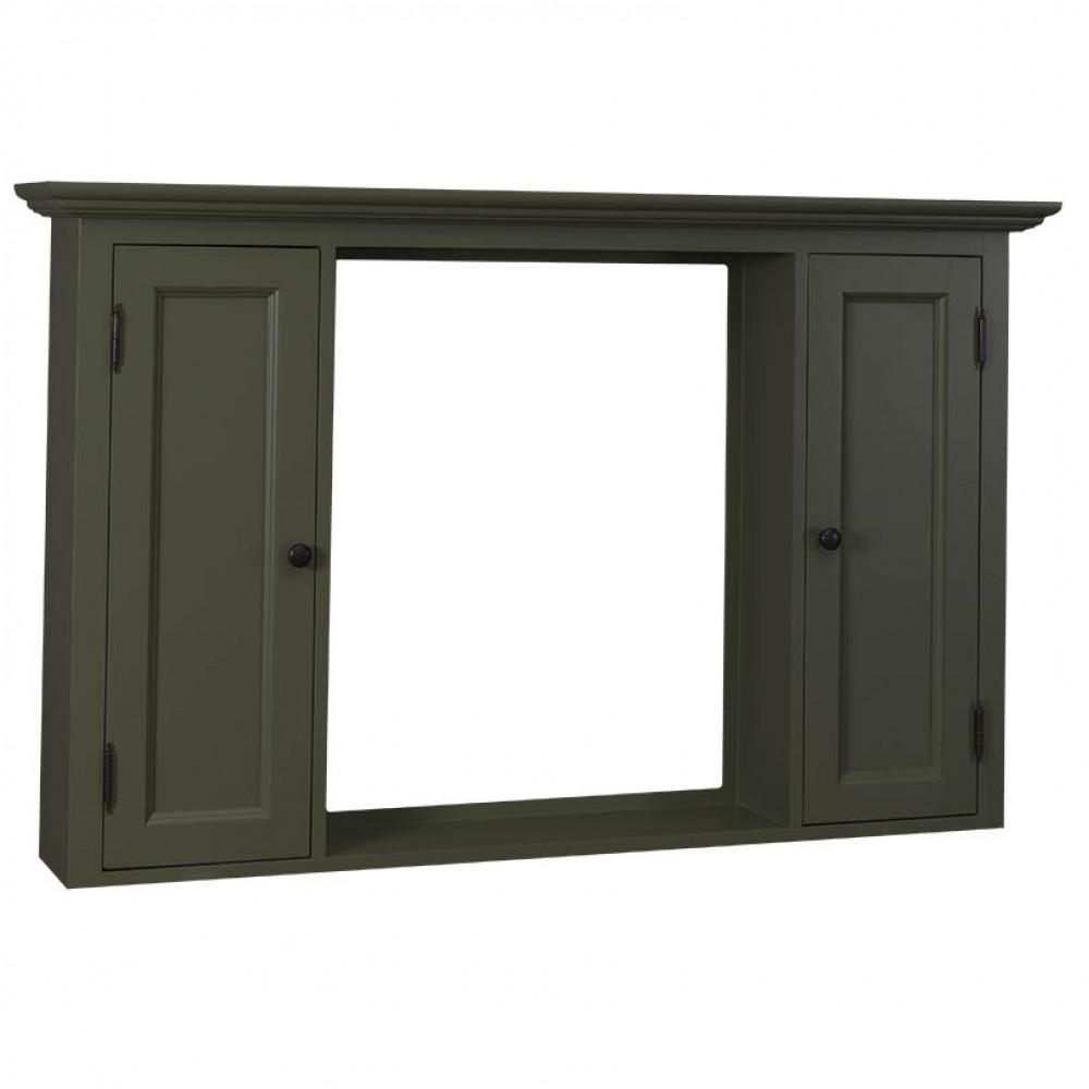 Spiegelschrank grau massivholz spiegel im landhausstil for Spiegelschrank landhausstil