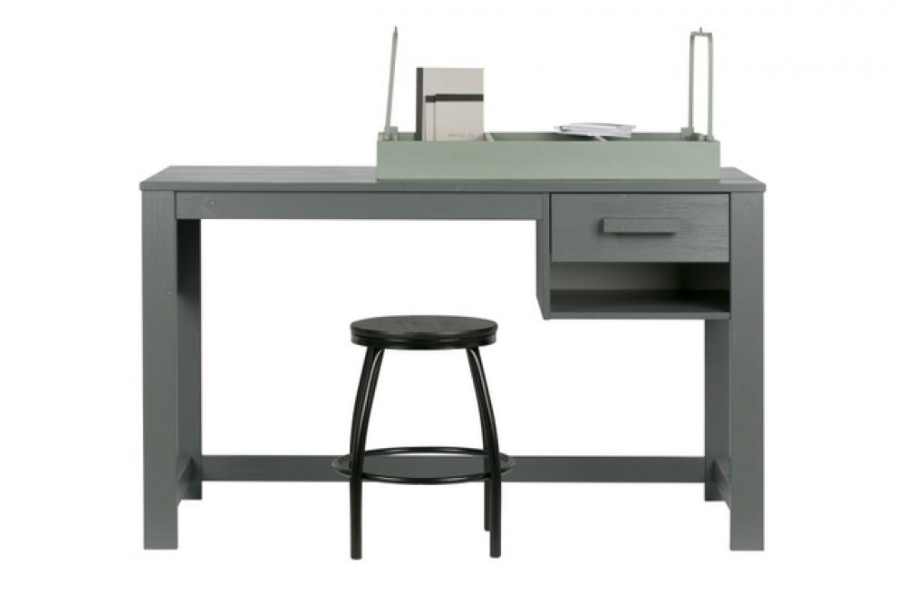 Schreibtisch grau schreibtisch massivholz grau tisch for Schreibtisch in grau