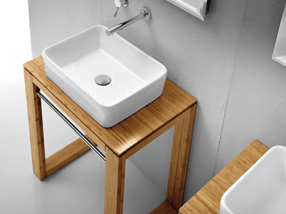 waschtisch massivholz waschtisch unterschrank f r ausatzbecken breite 100 cm. Black Bedroom Furniture Sets. Home Design Ideas