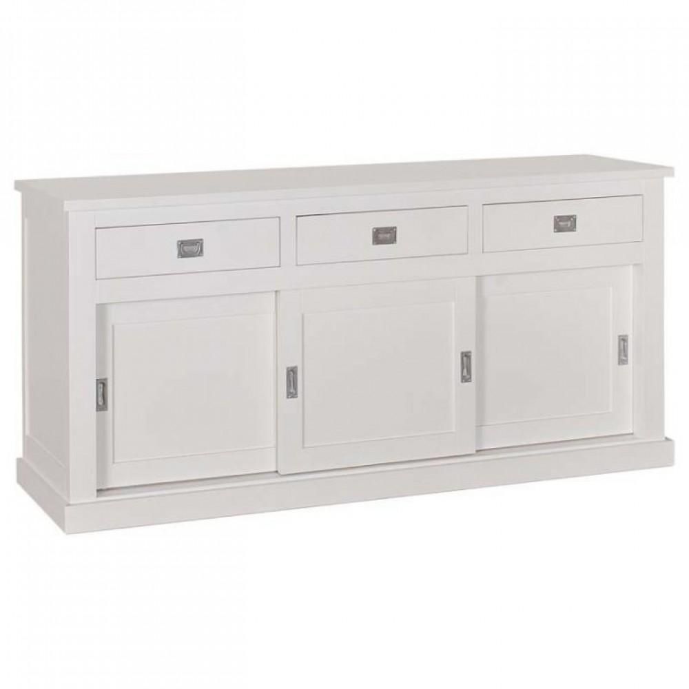 Sideboard weiß Landhausstil, Anrichte weiß Landhaus, Breite 200 cm