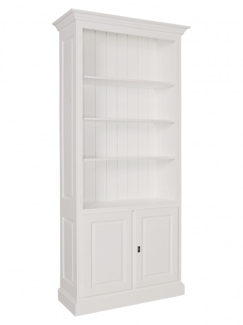 Bücherschrank weiß, Schrank weiß Landhaus, Breite 101 cm ...