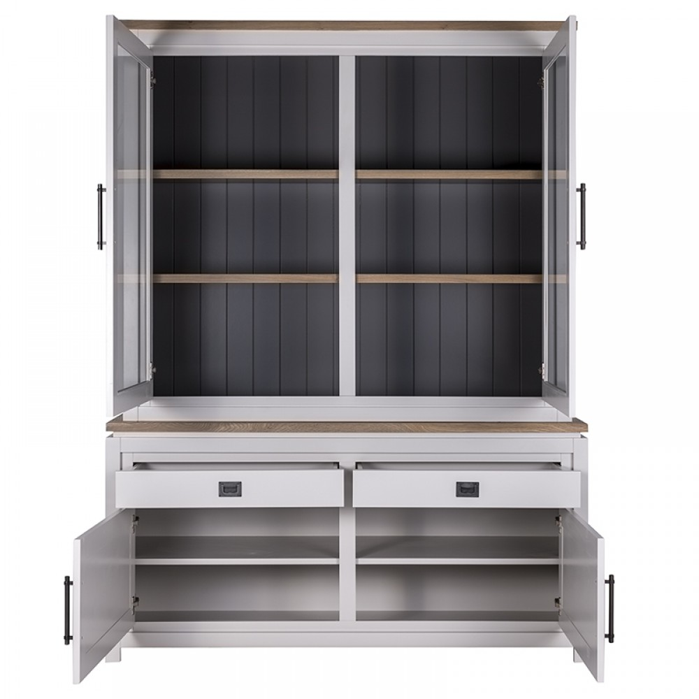 vitrinenschrank grau geschirrschrank wei vitrine wei. Black Bedroom Furniture Sets. Home Design Ideas