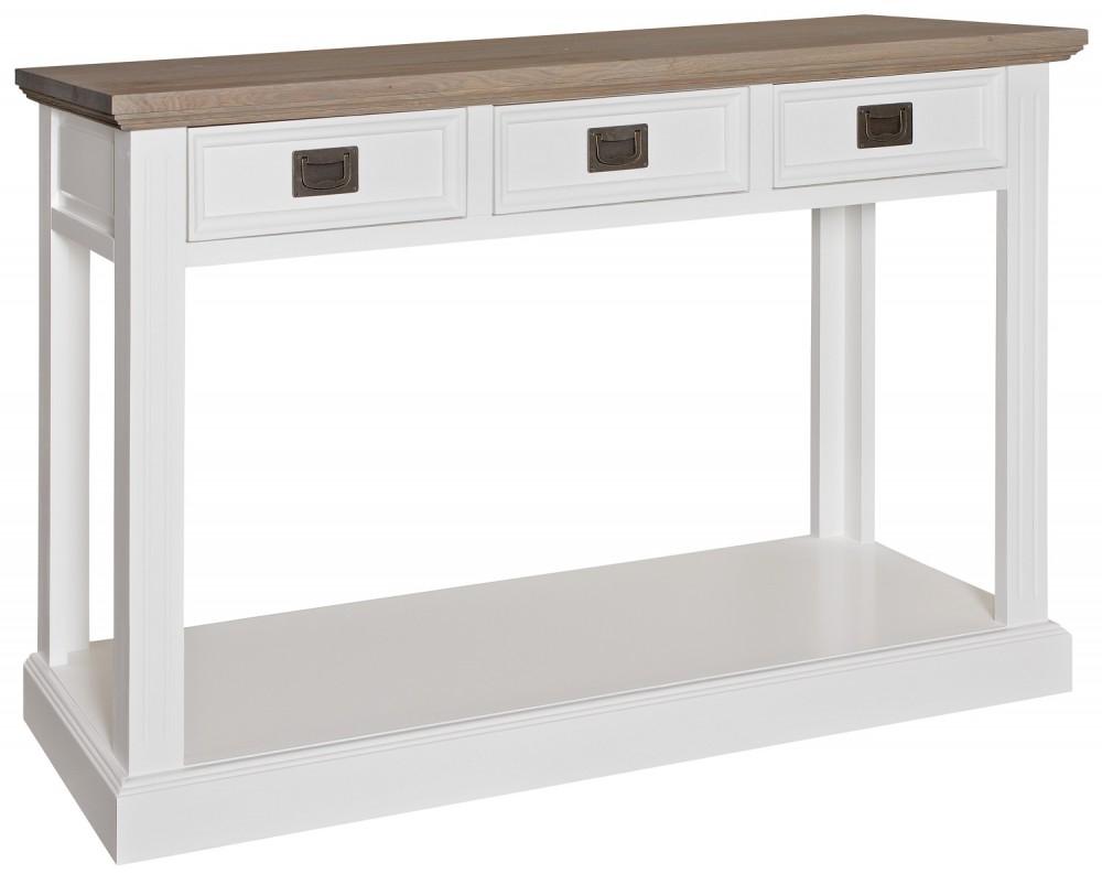 sideboard wei im landhausstil wandtisch wei breite 122 cm. Black Bedroom Furniture Sets. Home Design Ideas