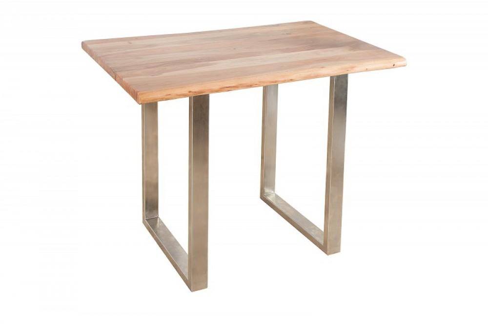 bartisch massivholz stehtisch metall tischbeine h he 105 cm. Black Bedroom Furniture Sets. Home Design Ideas