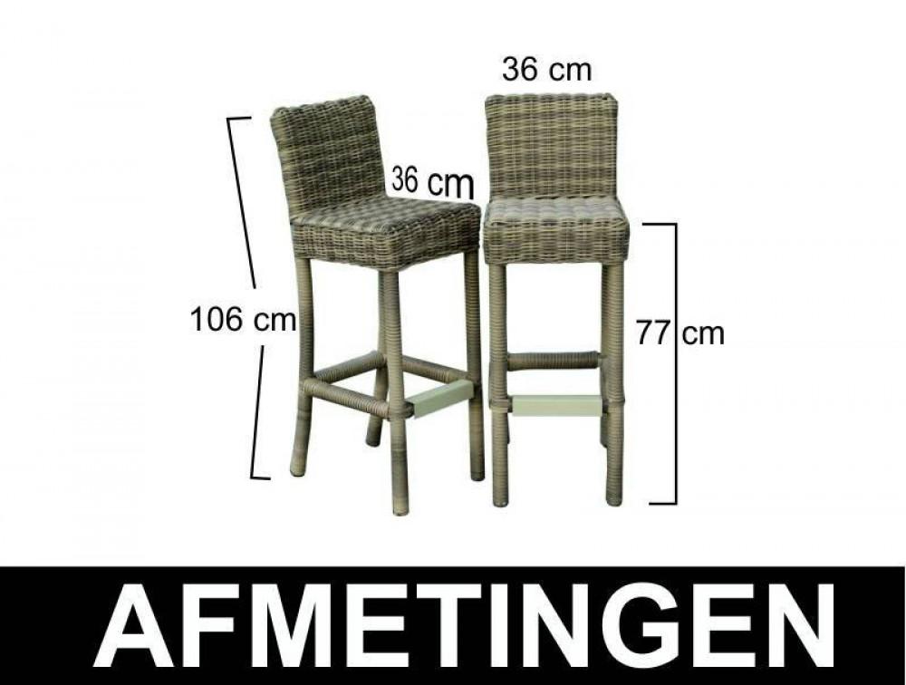 Garten Bartisch mit Barstühlen Set Gartentisch mit sechs Stühlen ...